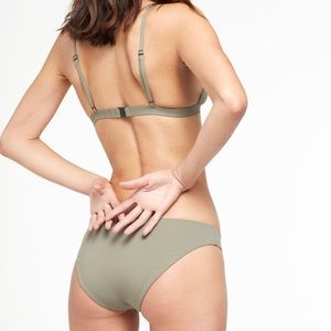 Onia Danni Lily forest green triangle bikini